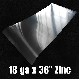 18 Ga Zinc Sheet-Solid Rolled 36