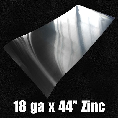 "18 Ga Zinc Sheet-Solid Rolled 44.7"" Wide"