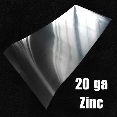 "20 Ga Zinc Sheet-Solid Rolled 44.7"" Wide"