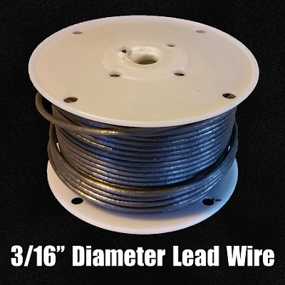 "Lead Wire 3/16"" (FULL SPOOL)"